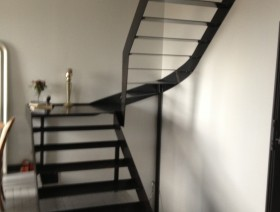 Escalier 3 quarts tournants Acier brut