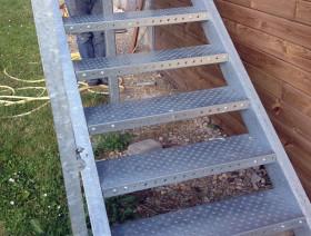 Escalier-Acier-galvanisé