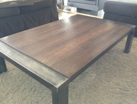 Table de salon Acier brut bois
