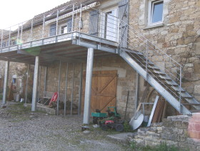 Terrasse et escalier Acier galvanisé