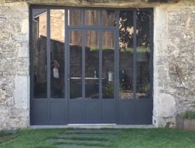 Porte verrière métal thermolaqué