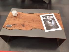Tables basses acier et bois
