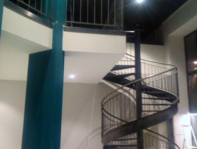 Escalier hélicoïdal en acier